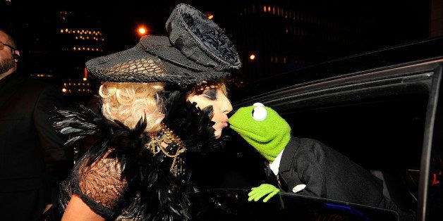 NEW YORK - SEPTEMBER 13:  Lady Gaga and Kermit the frog attend the 2009 MTV Video Music Awards at Radio City Music Hall on Se