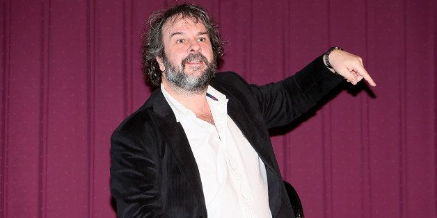 AUSTIN, TX - DECEMBER 08:  Peter Jackson speaks after a screening of the new film 'The Hobbit' during Ain't It Cool News's Bu
