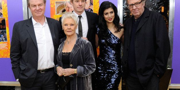 NEW YORK, NY - APRIL 23:  Producer John Madden, actress Judi Dench, producer Graham Broadbent, actress Tena Desae and actor T
