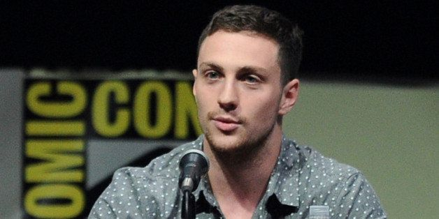 SAN DIEGO, CA - JULY 20:  Actor Aaron Taylor-Johnson speaks onstage at the Warner Bros. and Legendary Pictures preview of 'Go