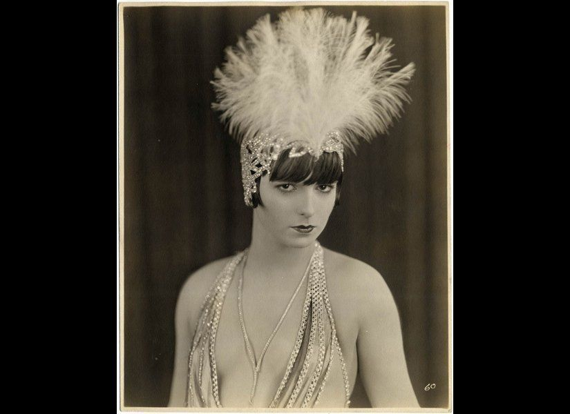 This portrait of Louise Brooks, from <em>The American Venus</em> (1926), is currently on display at the Museum of the Moving