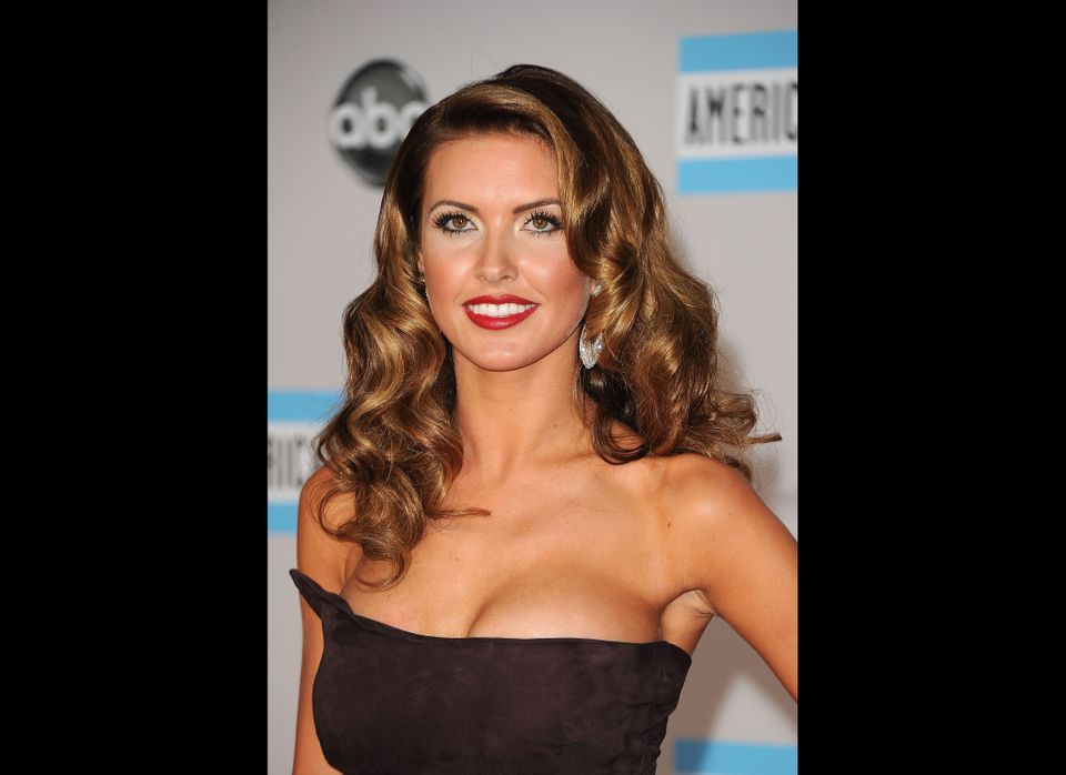 Actress Audrina Patridge arrives at the 2011 American Music Awards held at Nokia Theatre L.A. LIVE on November 20, 2011 in Lo