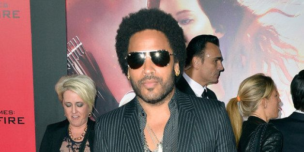 LOS ANGELES, CA - NOVEMBER 18:  Musician Lenny Kravitz attends the premiere of Lionsgate's 'The Hunger Games: Cathching Fire'