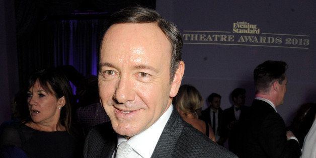 LONDON, ENGLAND - NOVEMBER 17:  Editor's Award winner Kevin Spacey attends an after party following the 59th London Evening S