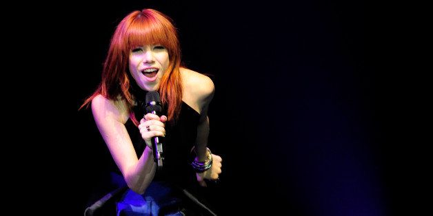 LAS VEGAS, NV - OCTOBER 03:  Recording artist Carly Rae Jepsen performs at 'UniteLIVE: The concert to rock out bullying' at t