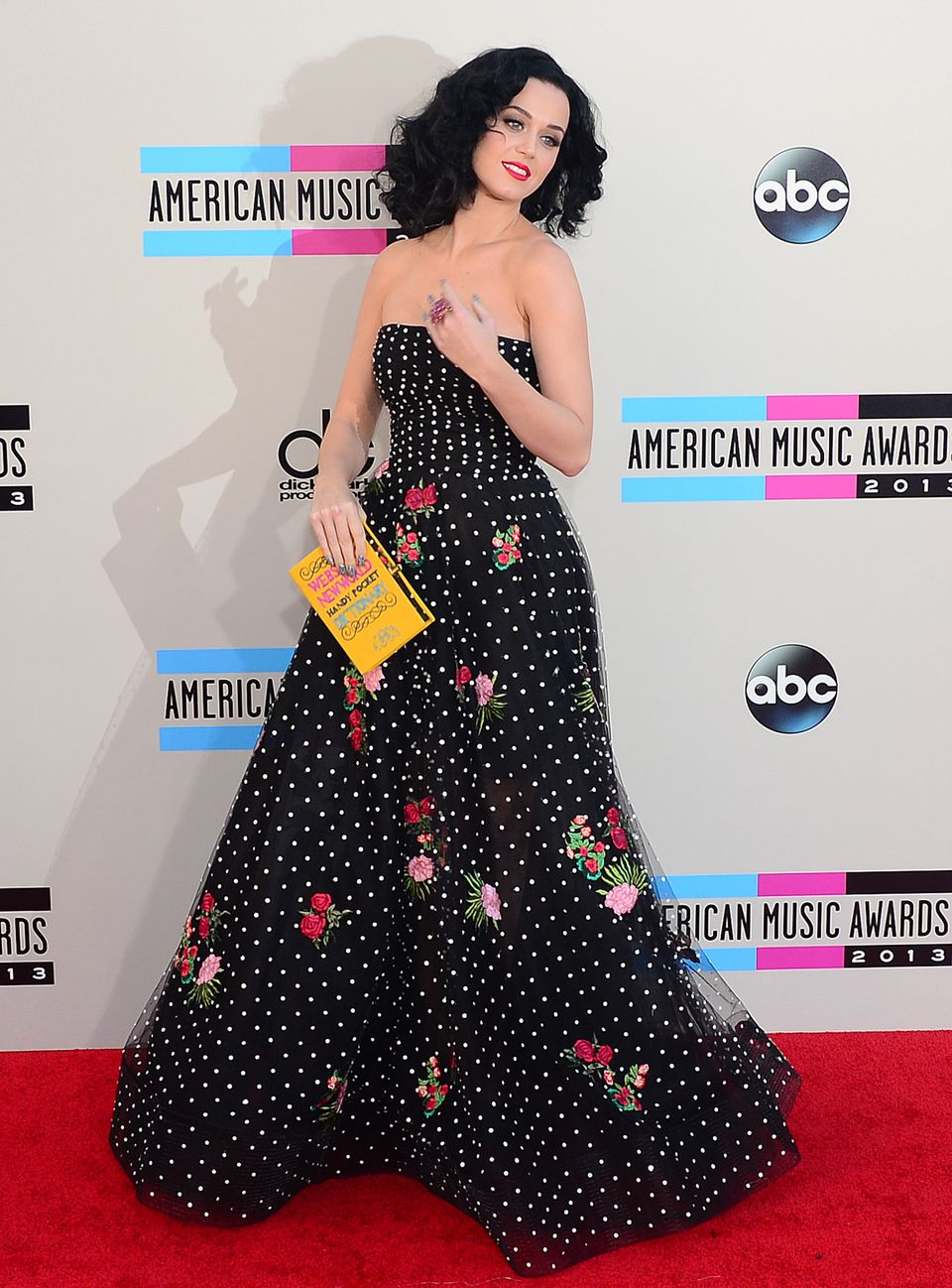 Katy Perry arrives for the 2013 American Music Awards at the Nokia Theatre L.A. Live in downtown Los Angeles, California, Nov