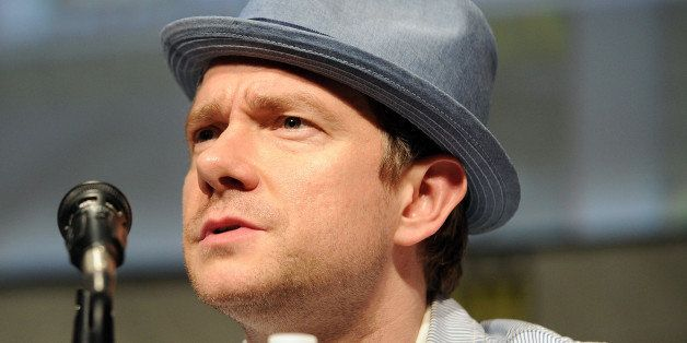 SAN DIEGO, CA - JULY 14:  Actor Martin Freeman  participates in Warner Bros. Pictures And Legendary Pictures Preview - 'The H