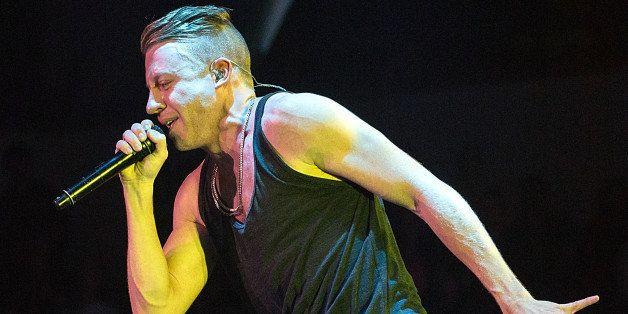 CEDAR PARK, TX - NOVEMBER 29:  Rapper Macklemore of Macklemore and Ryan Lewis performs in concert at Cedar Park Center on Nov