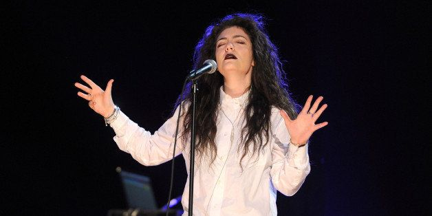 LOS ANGELES, CA - DECEMBER 05:  Singer Lorde performs onstage during the rehearsals for The GRAMMY Nominations Concert Live!!
