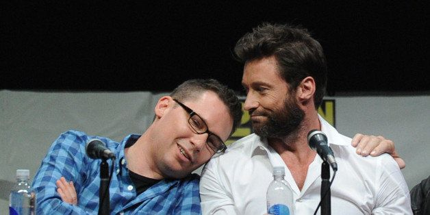SAN DIEGO, CA - JULY 20:  Director Bryan Singer and actor Hugh Jackman speak at the 20th Century Fox 'X-Men: Days of Future P