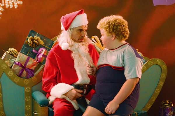 """Bad Santa"" was a surprising runaway success with critics, who called Billy Bob Thornton's performance <a href=""http://www.sl"