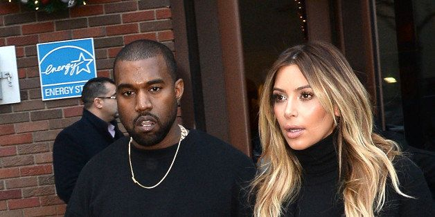 NEW YORK, NY - NOVEMBER 25:  Kim Kardashian and Kayne West are seen in Soho  on November 25, 2013 in New York City.  (Photo b
