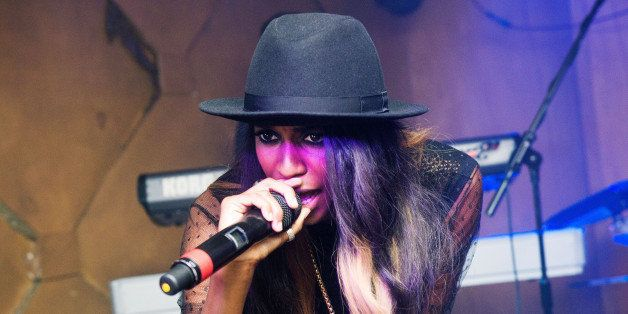 LONDON, UNITED KINGDOM - SEPTEMBER 5:  Angel Haze performs live on stage at Birthdays on September 5, 2013 in London, England