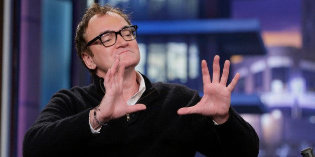 THE TONIGHT SHOW WITH JAY LENO -- Episode 4575 -- Pictured: Director Quentin Tarantino during an interview on November 26, 20