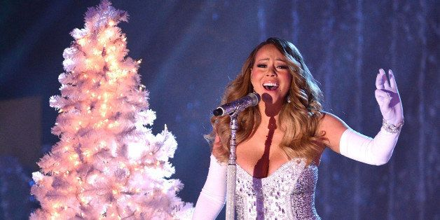 NEW YORK, NY - DECEMBER 03:  Mariah Carey performs at the 81st Annual Rockefeller Center Christmas Tree Lighting Pre-Tape at