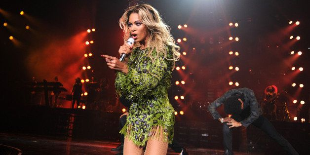 NEW YORK, NY - DECEMBER 22:  Entertainer Beyonce performs on stage during 'The Mrs. Carter Show World Tour' at the Barclays C