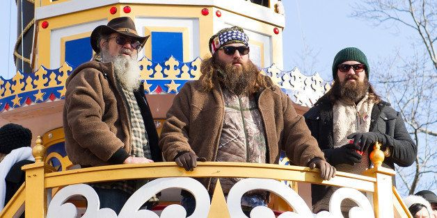 NEW YORK, NY - NOVEMBER 28:  (L-R) TV personalities Silas Merritt 'Si' Robertson, WIllie Robertson and Jep Robertson of Duck