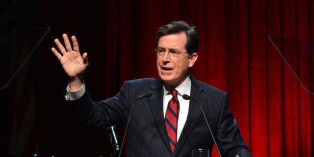 NEW YORK, NY - DECEMBER 11:  Satirist Stephen Colbert speaks onstage at Robert F. Kennedy Center For Justice And Human Rights