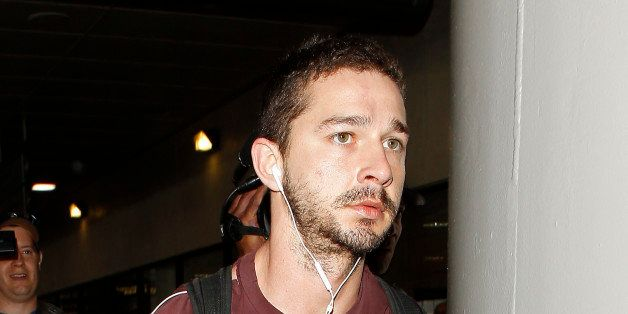 LOS ANGELES, CA - MAY 02: Shia LaBeouf is seen at LAX Airport on May 2, 2013 in Los Angeles, California. (Photo by JB Lacroix