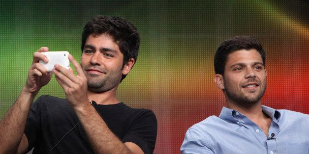 (L-R) Actors Adrian Grenier and Jerry Ferrara speak during HBO's 'Entourage' TCA Panel during the 2011 Summer TCA Tour at the