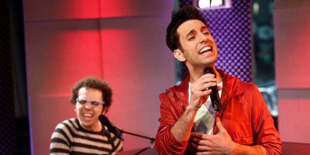 TODAY -- Pictured: (l-r) Ian Axel, Chad Vaccarino of Music group A Great Big World appear on NBC News' 'Today' show -- (Photo