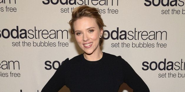 NEW YORK, NY - JANUARY 10:  SodaStream unveils Scarlett Johansson as its first-ever Global Brand Ambassador at the Gramercy P