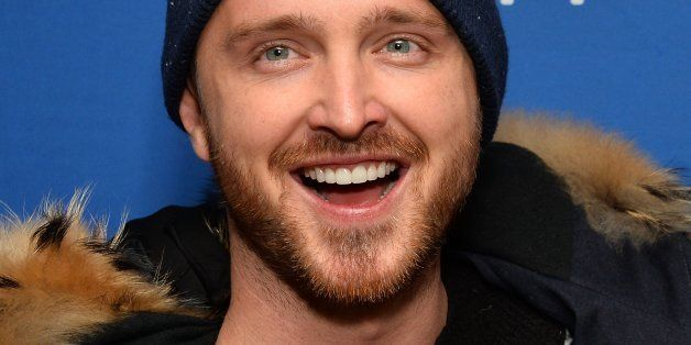 PARK CITY, UT - JANUARY 17:  Actor Aaron Paul arrives at the 'Hellion' premiere party at Chase Sapphire on January 17, 2014 i