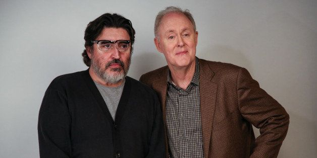PARK CITY, UT - JANUARY 18:  Actors Alfred Molina (L) and John Lithgow attend the Day For Night Video Lounge at Huffington Po