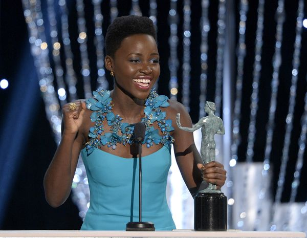"<strong>2013:</strong> Nyong'o landed her first feature-film role, in ""12 Years a Slave,"" immediately after graduating from t"