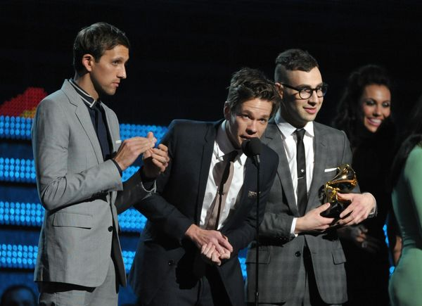 "Accepting the award for Song of the Year for ""We Are Young,"" Fun. lead singer Nate Ruess said: ""I don't know what we were thi"