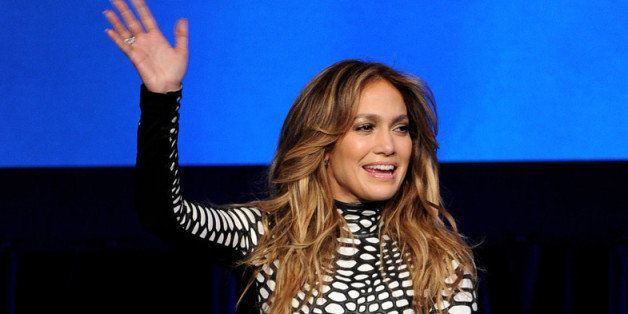 LOS ANGELES, CA - JANUARY 14:  Singer Jennifer Lopez appears onstage at the premiere of Fox's 'American Idol Xlll' at UCLA's
