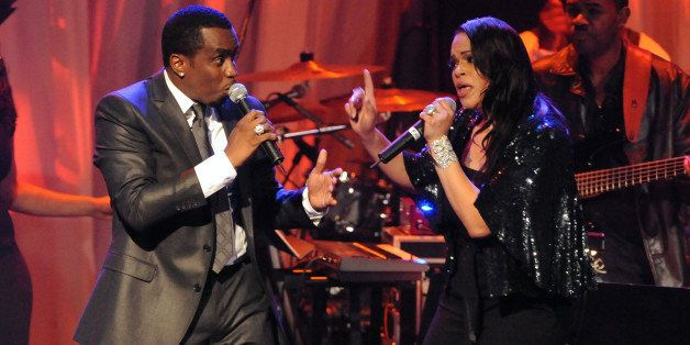 Sean Diddy' Combs and Faith Evans perform at the 2009 GRAMMY Salute to Icons honoring Clive Davis at the Beverly Hilton Hotel