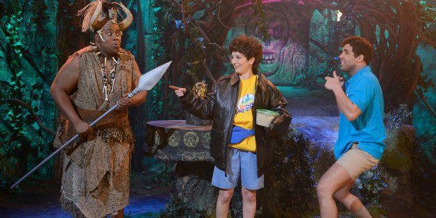 SATURDAY NIGHT LIVE -- 'Drake' Episode 1652 -- Pictured: (l-r) Kenan Thompson as tribesman, Nasim Pedrad Rahat, Drake as host