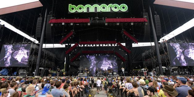 MANCHESTER, TN - JUNE 16: Matt Berninger and The National perform as part of Day 4 of the Bonnaroo Music And Arts Festival on