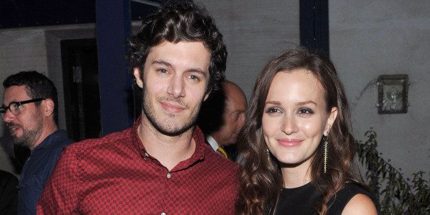 NEW YORK, NY - SEPTEMBER 14:  Actor Adam Brody and actress Leighton Meester attend the after party for The Cinema Society wit