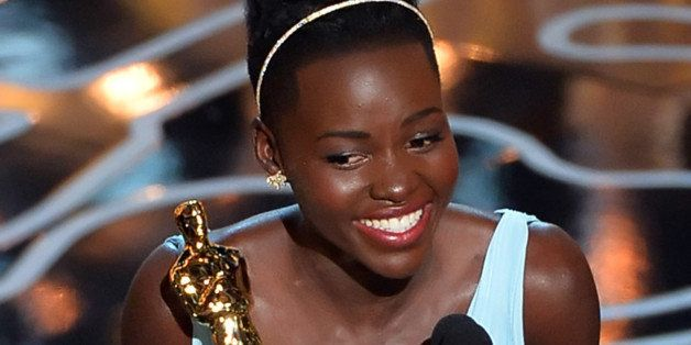 HOLLYWOOD, CA - MARCH 02:  Actress Lupita Nyong'o accepts the Best Performance by an Actress in a Supporting Role award for '