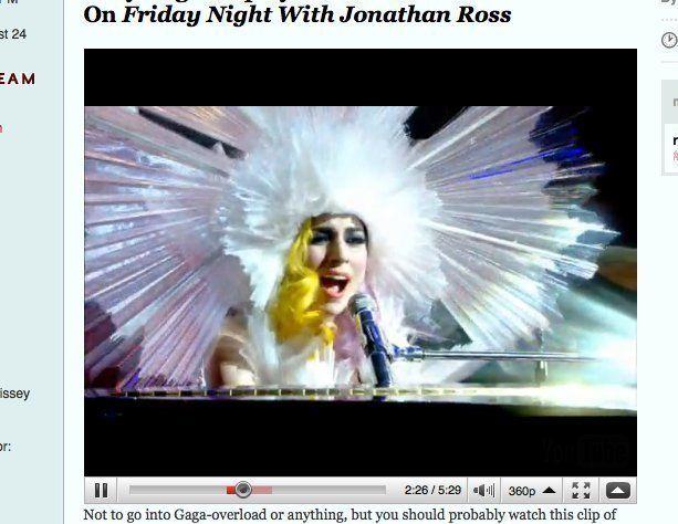 jonathan ross lady gaga