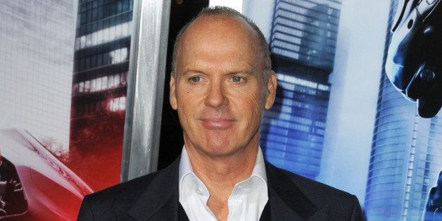 HOLLYWOOD, CA - FEBRUARY 10:  Actor Michael Keaton arrives at the premiere of Columbia Pictures' 'Robocop' at TCL Chinese The
