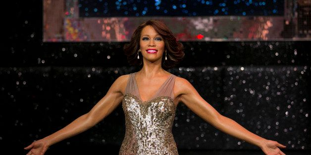LONDON, UNITED KINGDOM - OCTOBER 21:  A waxwork of singer Whitney Houston is unveiled at Madame Tussauds on October 21, 2013