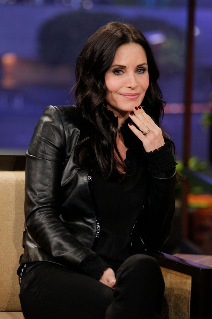 THE TONIGHT SHOW WITH JAY LENO -- Episode 4381 -- Pictured: Actress Courteney Cox during an interview on January 4, 2013 -- (