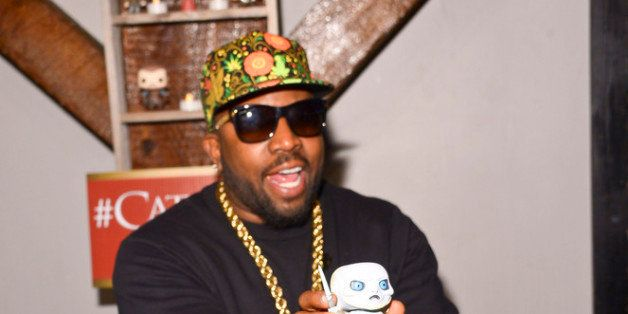 NEW ORLEANS, LA - FEBRUARY 16: Rapper and Host Big Boi with a Game of Thrones Pop Doll at the HBO Game of Thrones  Catch The