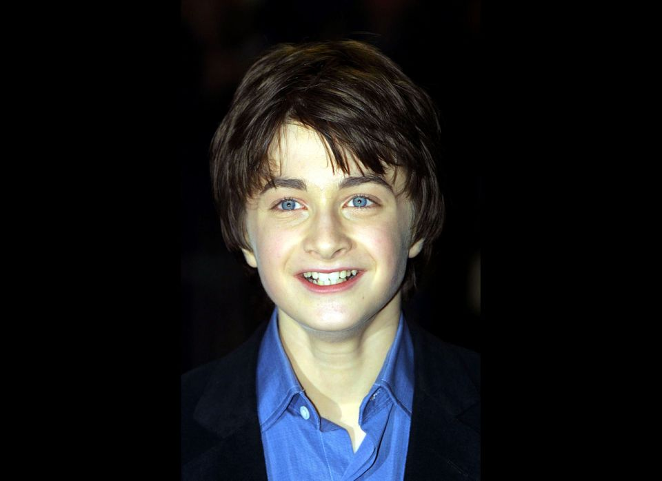 Actor Daniel Radcliffe, who plays Harry Potter, arrives for the world premiere of 'Harry Potter and the Philosopher's Stone'