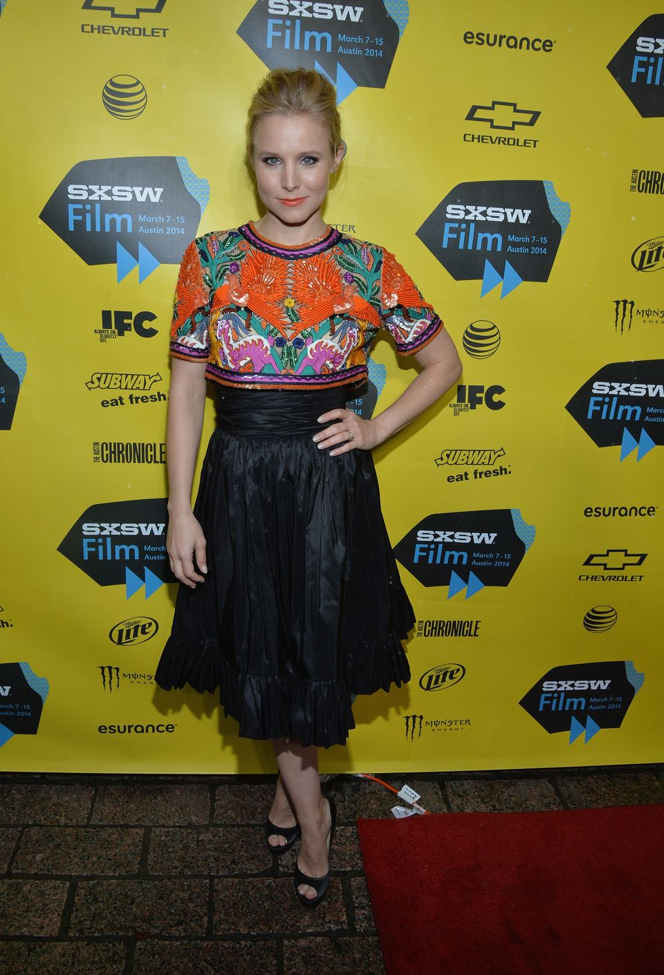 AUSTIN, TX - MARCH 08:  Actress Kristen Bell arrives at the premiere of 'Veronica Mars' during the 2014 SXSW Music, Film + In