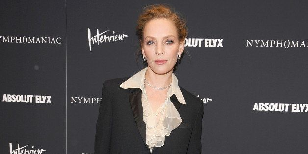 NEW YORK, NY - MARCH 13: Uma Thurman attends the 'Nymphomaniac: Volume I' screening at The Museum of...