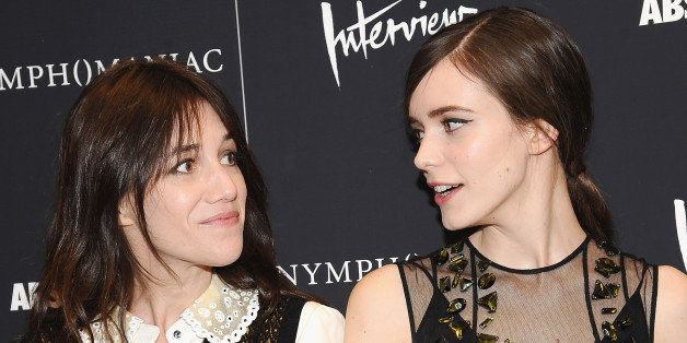 NEW YORK, NY - MARCH 13:  (L-R) Charlotte Gainsbourg (L) and Stacy Martin attend the 'Nymphomaniac: Volume I' screening at Th