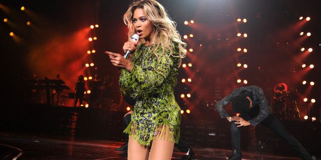 NEW YORK, NY - DECEMBER 22: Entertainer Beyonce performs on stage during 'The Mrs. Carter Show World Tour' at the Barclays Center on December 22, 2013 in New York, New York. (Photo by Kevin Mazur/WireImage for Parkwood Entertainment)