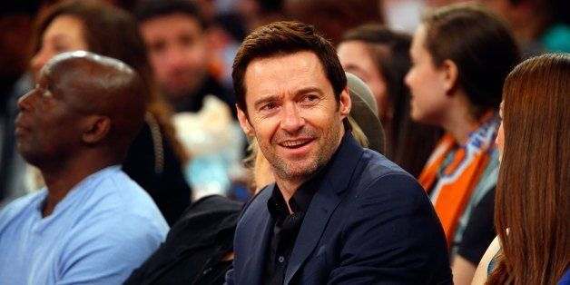 NEW YORK, NY - FEBRUARY 01:  (NEW YORK DAILIES OUT)   Actor Hugh Jackman attends an NBA game between the New York Knicks and
