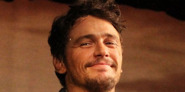 NEW YORK, NY - MARCH 19:  James Franco makes his broadway debut in 'Of Mice And Men' on Broadway at The Longacre Theatre on M
