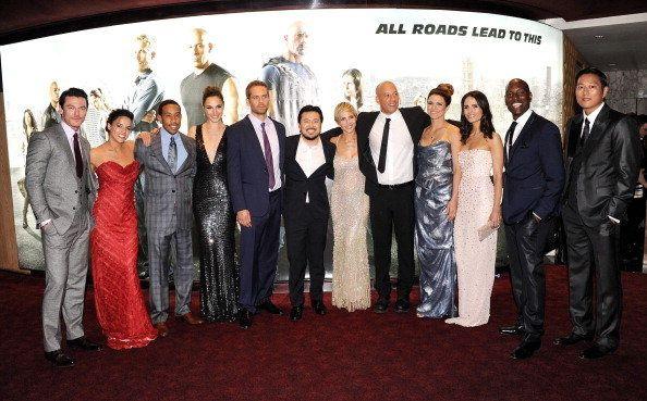 """Paul Walker mit seinen Filmkollegen von """"Fast & Furious 6"""" bei der Weltpremiere in London"""