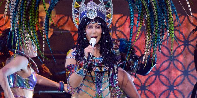 BOSTON, MA - APRIL 09:  Cher performs in concert at TD Garden on April 9, 2014 in Boston, Massachusetts.  (Photo by Paul Maro